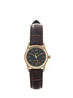 Original casio women's leather analog watch LTP-V001GL-1 with 1 year warranty