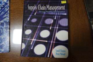 Supply Chain Management (Strategy, Planning and Operation)