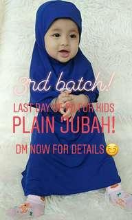 Kids baby plain jubah