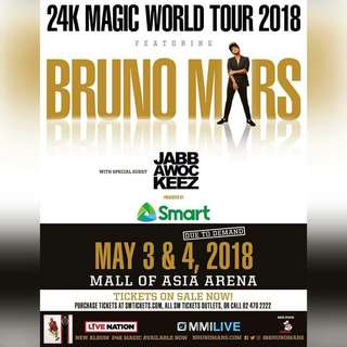 Bruno Mars VIP1 May 4 ticket