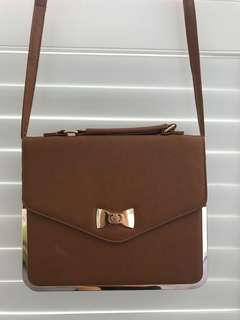 Brown Side Bag