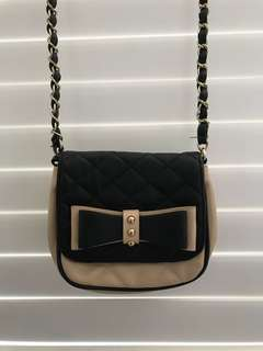 Black and Beige Aldo Side Bag