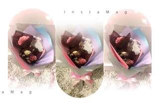 康乃馨花束(3朵)母亲节礼物