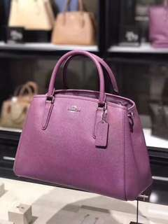 COACH F57527 Small Margot Carryall in Crossgrain Leather - Mauve
