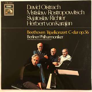 Beethoven Triple Concerto Rostropovich Richter Oistrakh Karajan EMI C065-02042