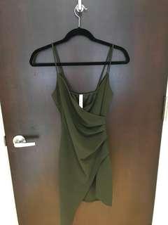 Dark Green Dress - BeModish Boutique