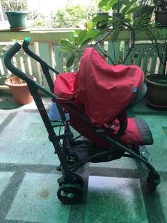 BN: Chicco Baby Stoller (Red)