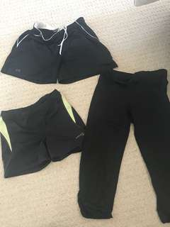 Various workout bottoms, under armour