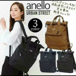 Authentic AnelloURBAN STREET Backpack - Black / Navy