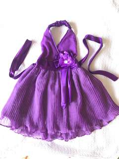 Baby gown violet