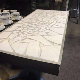 Cracked Marble Coffee Table