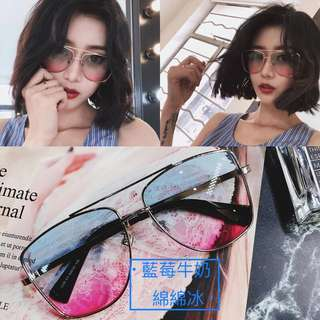 細金框眼鏡 ~夏季清涼系列~ 漸層彩虹變色鏡片 可修飾臉型 有化了妝的感覺~