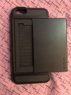 Black Card Holder Case - IPHONE 6+