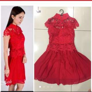 Crochet premium Cny dress