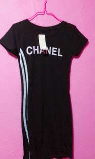 Black Chanel fitting dress