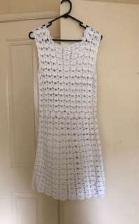 Handmade one off crochet dress