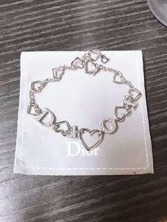Dior心心相印水鑽手鍊