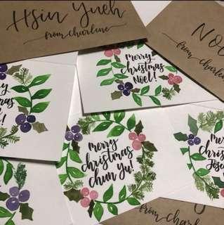 Customised Flower Wreath Cards