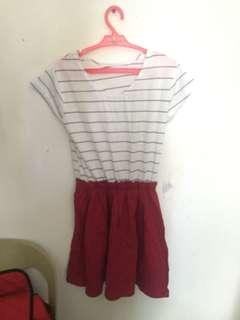 Casual Striped w/ red bottom Dress