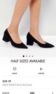 Asos Black Block Heels