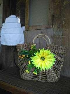 Handycraft bag , dgn hiasan cantik bunga matahari