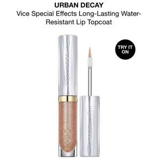Urban Decay Vice in Fever Lip Gloss Lipstick Water Resistant