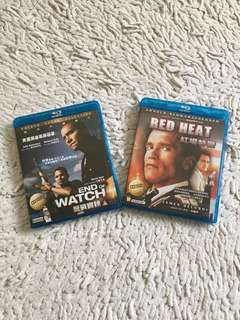 Blu Ray Movies (Red Heat & End of Watch)