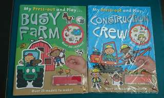 Press out and play book