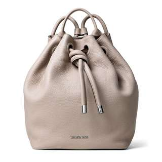 Authentic MK Leather Drawstring Backpack