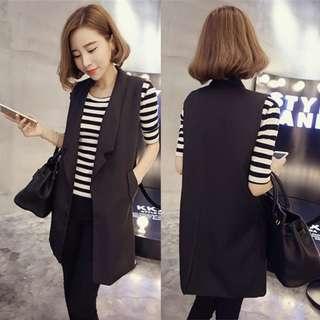 3XL Plus size sleeveless cardigan jacket, vest coat