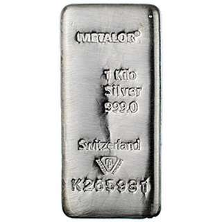 Metalor 1 kilo 999 silver