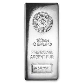 Royal Canadian 100 oz silver