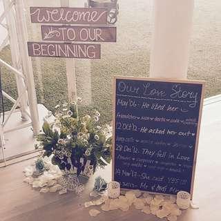 Wedding signage / sign boards