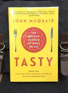 《New Book Condition + Explore Mystery Of Flavour & How The Sense of Taste Will Evolve In Coming Decades》John Mcquaid - TASTY : The Art And Science Of What We Eat