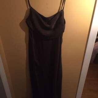 Formal long brown dress medium