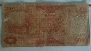 Uang kuno 100rph 1977