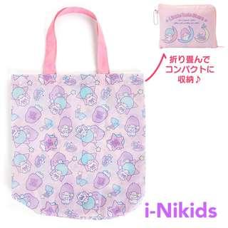 🇯🇵日本直送 - 原裝日版 Sanrio - Little Twin Stars 雙子星收納購物袋