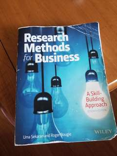 Buku Research Methods for Business Uma Sekaran and Toger Bougie