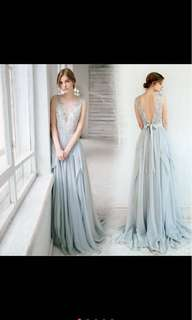 Light blue evening dress