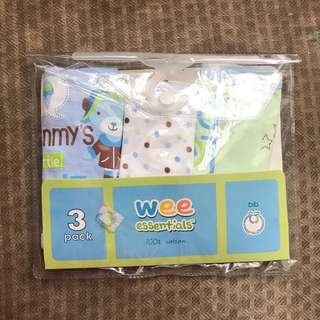 Wee Essentials 3-Pack Bib Set