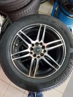 15 Inch 5x100/114.3 Used Rim & Tyre