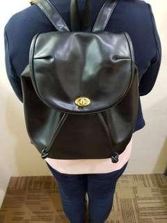 Leather back pack bag