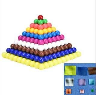 蒙氏兒童專業早教教具 標准版 平方數A平方塊