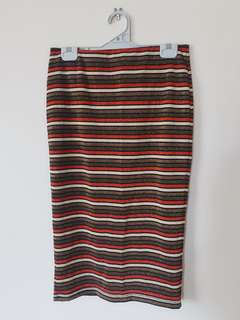 Bardot glittery pencil skirt bodycon