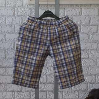 UNIQLO Kids Plaid Boat Shorts, Size XL