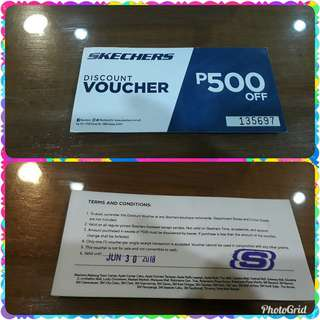 Skechers discount voucher