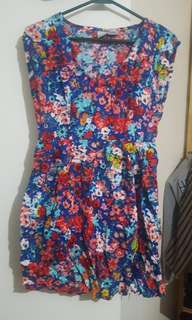 Flower Summer Dress Size M