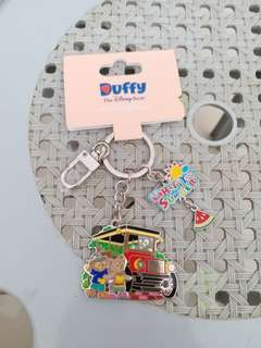 HK disneyland bear Duffy key ring