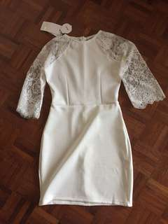 White Lace Dress M size