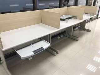 電腦辦公桌 鍵盤抽屜 辦公室 含隔板partition 3張